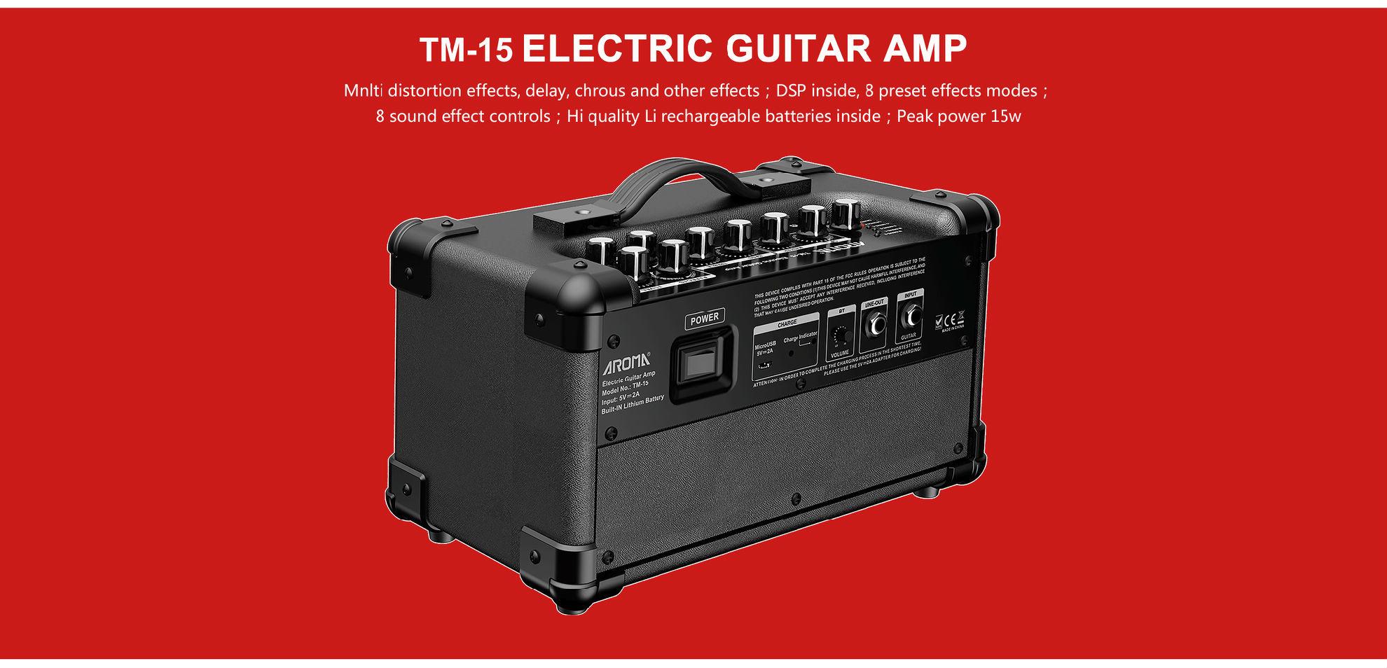 AMPLY GUITAR ĐIỆN AROMA TM-15. Nhạc cụ Trung Nguyên|Chuyên Nhạc cụ