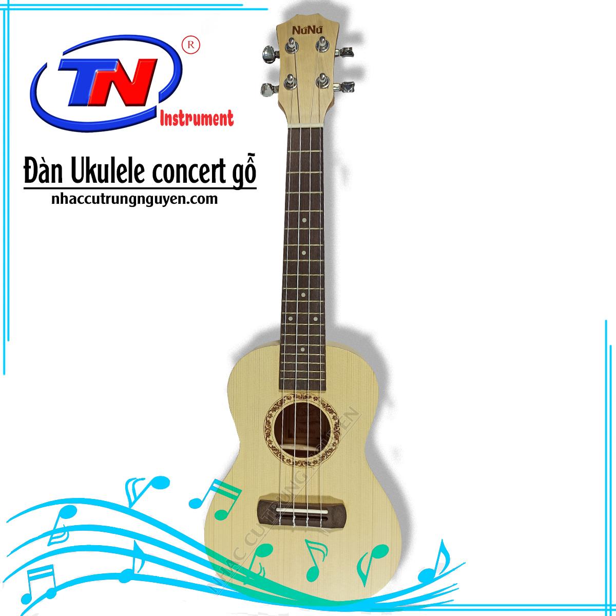 Đàn Ukulele concert gỗ. Nhạc cụ Trung Nguyên|Chuyên Nhạc cụ